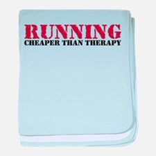 Running therapy red baby blanket