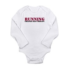 Running therapy red Long Sleeve Infant Bodysuit