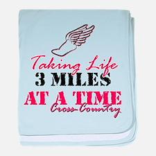 Taking Life 3 miles CC baby blanket
