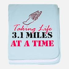 Taking Life 3.1 miles baby blanket