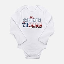 My Cousin in TX Long Sleeve Infant Bodysuit