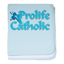 Prolife Catholic Cross baby blanket