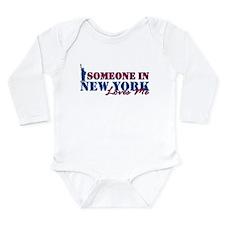 Someone in New York Long Sleeve Infant Bodysuit