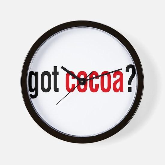 got cocoa? Wall Clock