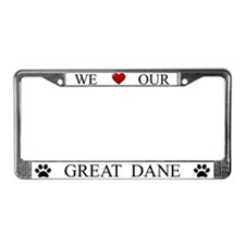 White We Love Our Great Dane Frame
