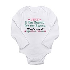 Jesus is my reason Long Sleeve Infant Bodysuit