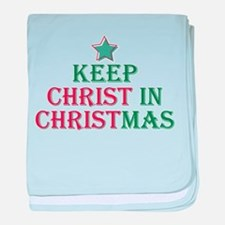 Keep Christ star Infant Blanket