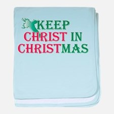 Keep Christ Cross Infant Blanket