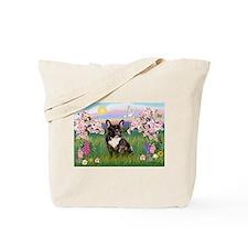 Blossoms & French Bulldog Tote Bag
