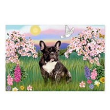Blossoms & French Bulldog Postcards (Package of 8)