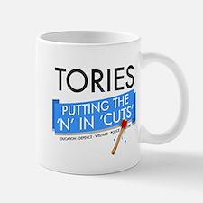 Tory Cuts Small Small Mug