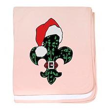 Santa Fleur de lis (green) Infant Blanket