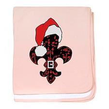 Santa Fleur de lis (red) Infant Blanket