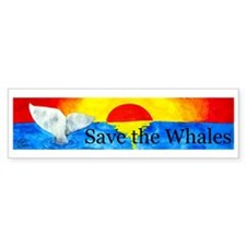 Save the Whales Bumper Bumper Sticker