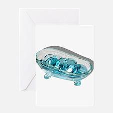 Bathtub Water Gems Greeting Card
