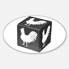 Cockblock Oval Decal