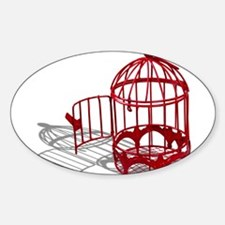 Bird House Sticker (Oval)