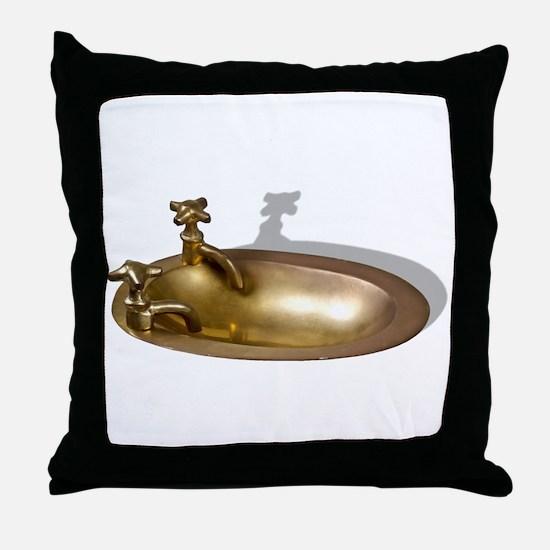 Even the Kitchen Sink Throw Pillow