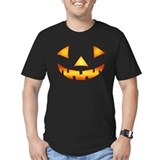 Pumpkin Fitted Dark T-Shirts