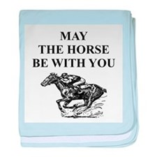 thoroughbred horse racing Infant Blanket