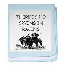 i love horse racing Infant Blanket
