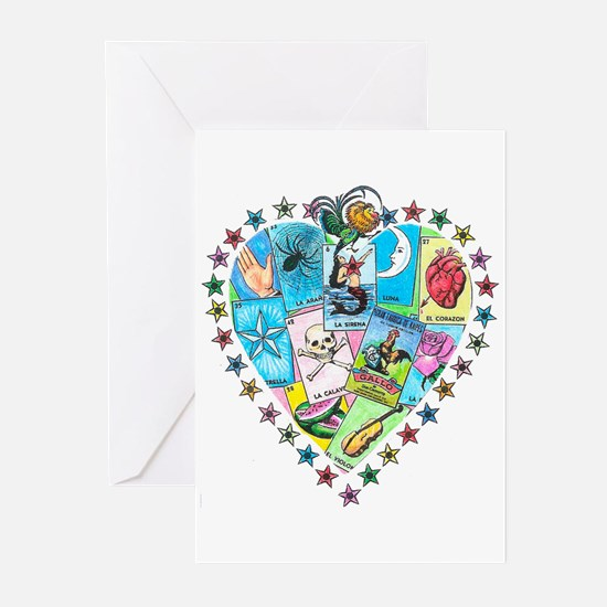 Loteria Heart Greeting Cards (Pk of 10)