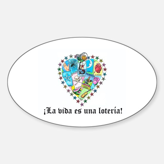 Loteria Heart Oval Decal