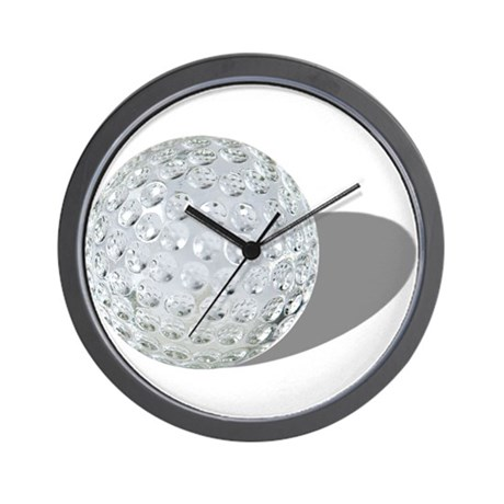 Golf Crystal Ball Wall Clock