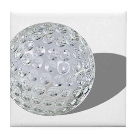 Golf Crystal Ball Tile Coaster