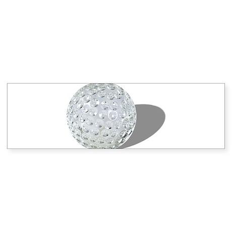 Golf Crystal Ball Sticker (Bumper)