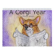 A Corgi Year - Wall Calendar - Captioned