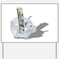 Money Piggy Bank Yard Sign