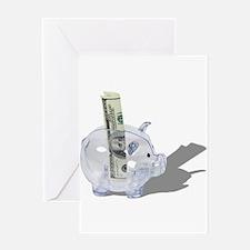 Money Piggy Bank Greeting Card