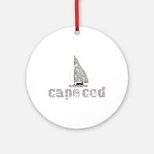 Cape Cod Sailboat Ornament (Round)