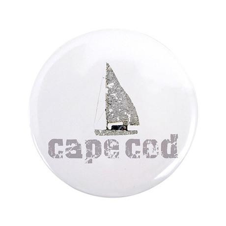 """Cape Cod Sailboat 3.5"""" Button"""