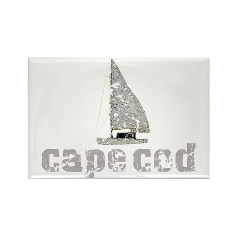 Cape Cod Sailboat Rectangle Magnet (10 pack)