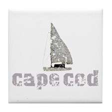 Cape Cod Sailboat Tile Coaster