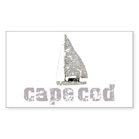 Cape Cod Sailboat Sticker (Rectangle)