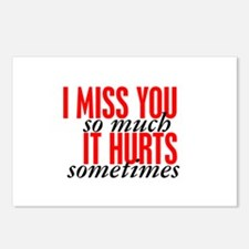Miss You So Much It Hurts Postcards (Package of 8)