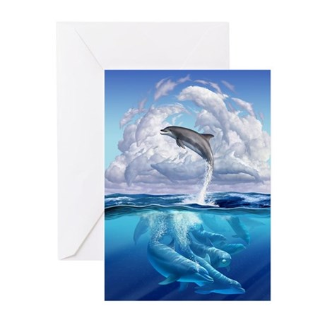 Dolphonic Symphony Greeting Cards (Pk of 10)