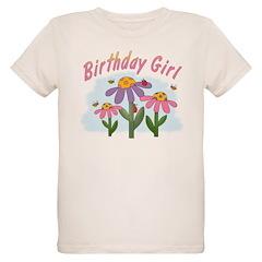 Silly Flowers Birthday Girl Organic Kids T-Shirt