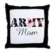 Army Mom Flag Throw Pillow
