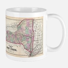 Vintage Map of New York (1873) Mugs