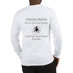 Anal Gland Design Long Sleeve T-Shirt