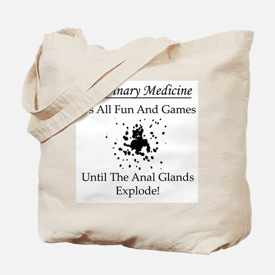 Anal Gland Design Tote Bag