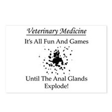 Anal Gland Design Postcards (Package of 8)