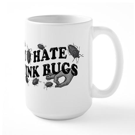 I hate stink bugs Large Mug