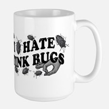 I hate stink bugs Large Mug