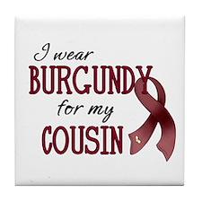 Wear Burgundy - Cousin Tile Coaster