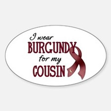 Wear Burgundy - Cousin Sticker (Oval)
